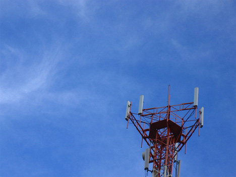 cell phone tower red photo