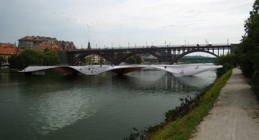 Maribor Bridge Proposal by Ja Studio & Tadj-Farzin Studio
