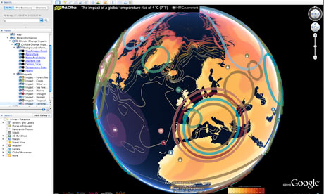A new interactive Google Earth map showing the impacts of a 4°Cworld