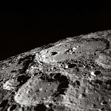 moon surface craters photo