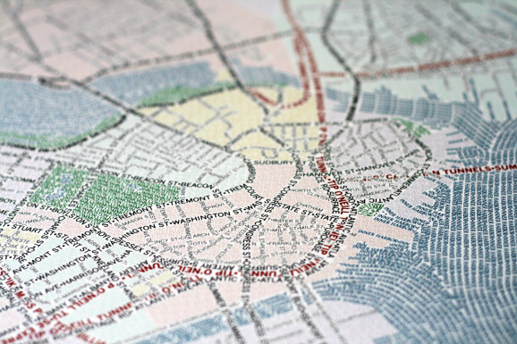 Typographic Maps Boston