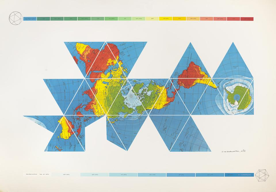 Buckminster Fuller and Chuck Byrne, Dymaxion Air-Ocean World Map, 1981. © The Estate of R. Buckminster Fuller, All Rights reserved