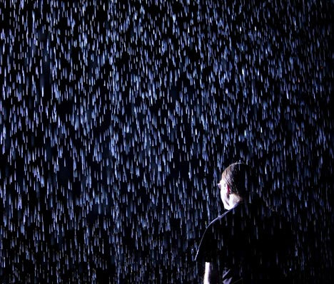 Rain Room by rAndom International at the Barbican