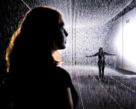 Rain Room by rAndom International at the Barbican