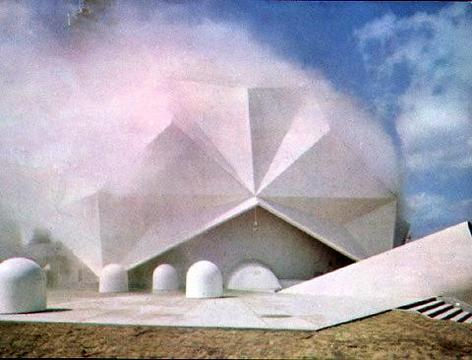 E.A.T. – Experiments in Art and Technology «Pepsi Pavilion for the Expo '70» | Pavilion exterior view