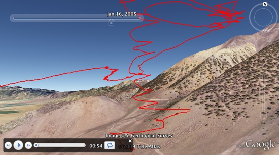 3D Glider Tour in Google Earth