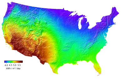 Mapping The Worlds Renewable Energy Potential Fabric Rblg - Solar power map us