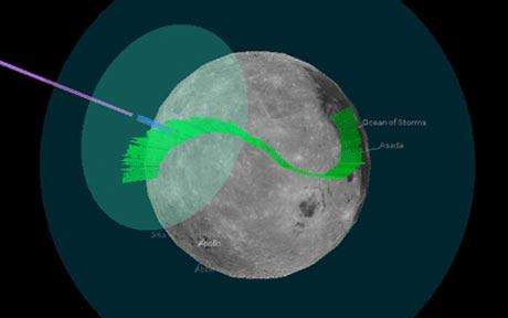 Moonbell allows you to draw your own musical route across the Moon